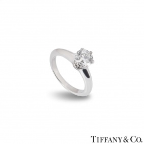 Tiffany & Co. Round Brilliant Cut Diamond Ring 0.85ct E/VS2 XXX